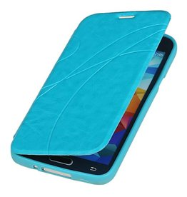 Easy Book Type Case for Galaxy S5 mini G800F Turquoise