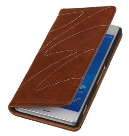 Washed Leather Map Case for Xperia Z3 Brown