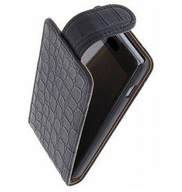 Croco Classic Flip Case for Galaxy S5 G900F Black