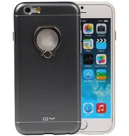 QY Ring Holder Aluminum Cover for iPhone 6 Plus Gray