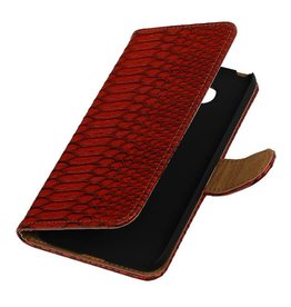 Snake Bookstyle Cover for LG Joy H220 Red