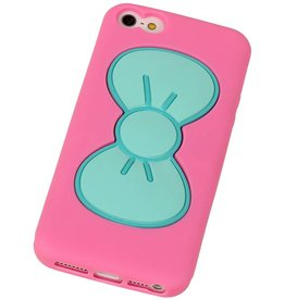 Butterfly Standing TPU Case for iPhone 5 Pink