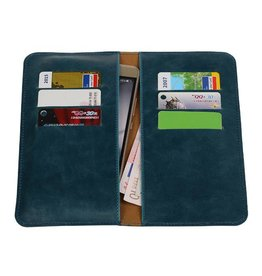 Pull Up Wallet Size L Blue