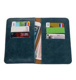 Pull Up Wallet Size M Blue