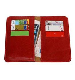 Pull Up Wallet Size M Red