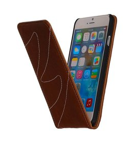 Washed Leather Flip Case for iPhone 6 Brown