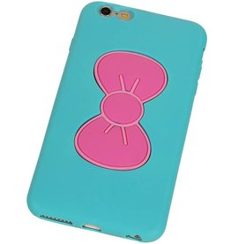 Butterfly Standing TPU Case for iPhone 6 Turquoise