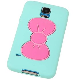 Butterfly Standing TPU Case for Galaxy S5 G900F Green