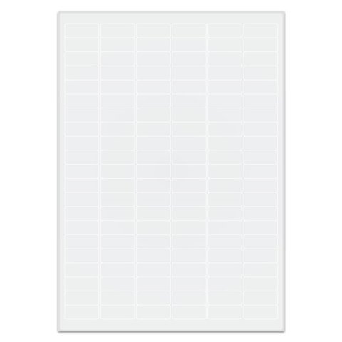 Cryo labels on sheets for laser printers 31.5mm x 13mm (A4 format)