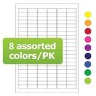 Криогенные лазерные этикетки 31,5 x 13мм ассорти 8 цветов (формат А4)