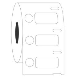 Kryo DYMO Etiketten (Tiefkühl - Etiketten) 26,4x12,7mm+Ø9,5mm