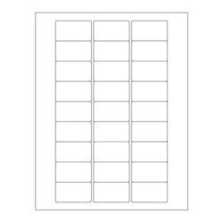 Autoclaaf Labels Voor Laserprinters - 50,8 x 28,57mm/Afneembaar