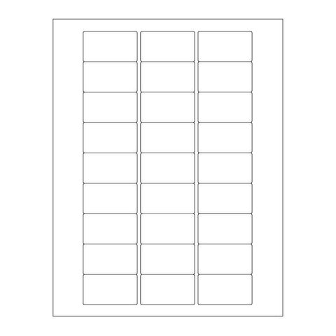 Autoclaaf Labels Voor Laserprinters - 50,8 x 28,57mm / Afneembaar