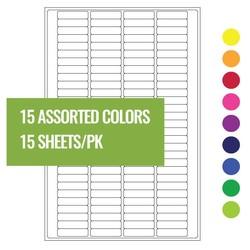Cryo laser labels for PCR tubes 20 x 5.1mm ** Multi-Color **