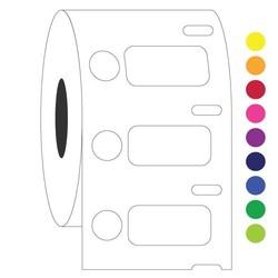 Cryo DYMO etiketten (diepvries-etiketten) 26,4x12,7mm+Ø9,5mm