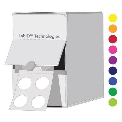 Farbige Kryo-Etiketten Ø 9mm Spenderbox