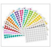 Farbige Runde Etiketten