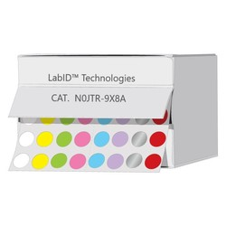 Farbige Kryo-Etiketten Ø 9mm In Spenderbox **Farben - Mix **