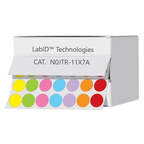 Farbige Kryo-Etiketten Ø 11mm / Spenderbox (Farbenmix)