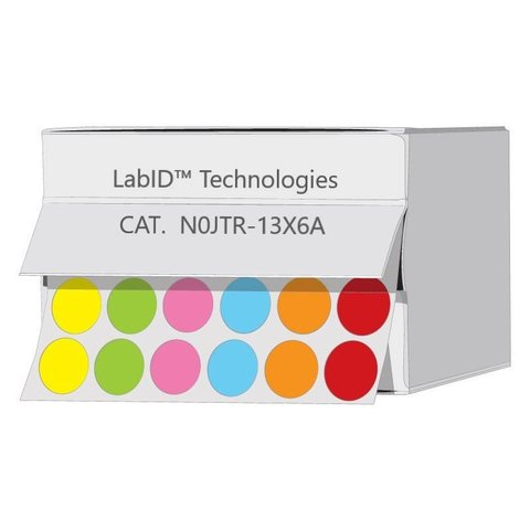 FarbigeKryo-EtikettenØ13mmSpenderbox (Farbenmix)