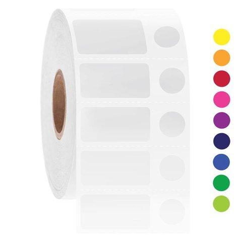 Kryo Barcode Etiketten - 25,4 x 12,7mm + Ø9,5mm