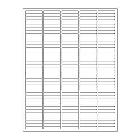 Cryo Labels For Laser Printers - 38,1 x 6,4mm (US Letter Format)