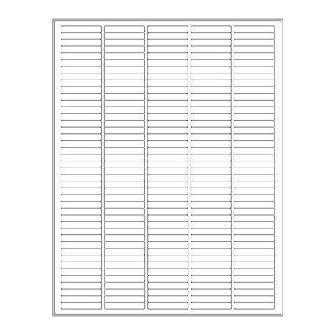 Étiquettes Cryogéniques - 38,1 x 6,4mm / Pour Imprimantes Laser (Format US Letter)