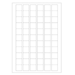 Cryo labels on sheets for laser printers - 25.4 x 25.4mm