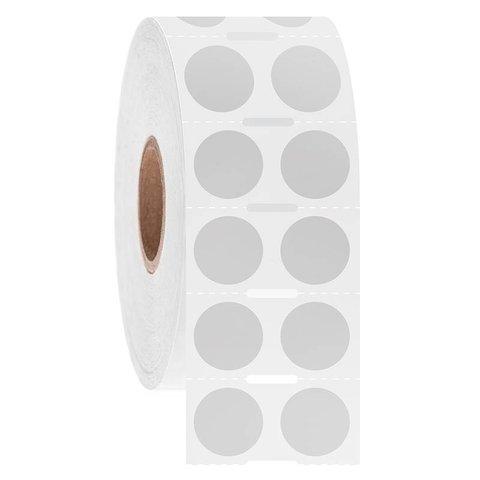 Cryo barcode etiketten Ø 12,7mm rond (Notch)
