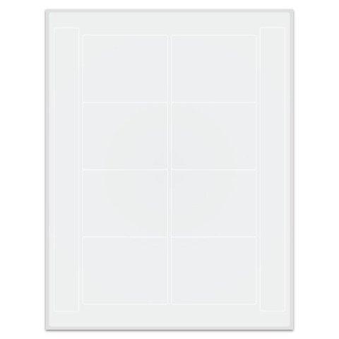 Криогенные Лазерные Етикетки 76,2 x 60,3мм (Формат US Letter)