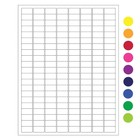 ÉtiquettesCryogéniques Pour Imprimantes Laser - 23,9 x 12,7mm (Format US Letter)