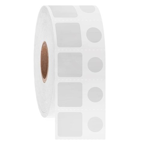 Kryo Barcode Etiketten - 15,2 x 15,2mm + Ø9mm