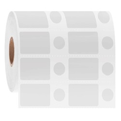 LabID™ - Cryo Barcode Etiketten - 28,6 x 19,1 + Ø 11,1mm