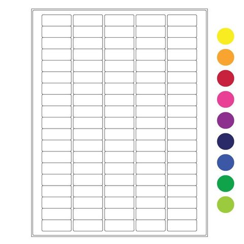 Cryo Labels For Laser Printers - 36 x 14mm (US Letter Format)