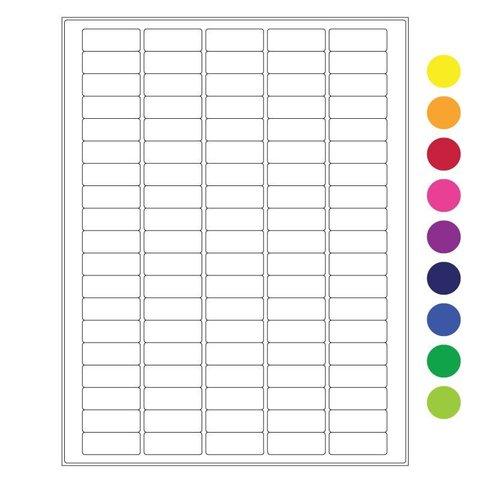 Étiquettes Cryogéniques - 36 x 14mm / Pour Imprimantes Laser (Format US Letter)
