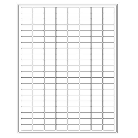 Cryo Labels For Laser Printers - 23.9 x 12.7mm / Removable (US-Letter-Format)