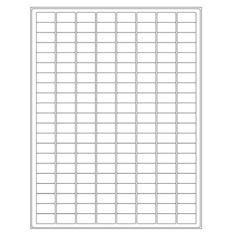 Kryo-Etiketten Auf Bögen - 23,9 x 12,7mm / Ablösbar (US-Letter-Format)