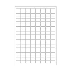 Cryo labels on sheets for laser printers 23 x 13mm (A4 format)
