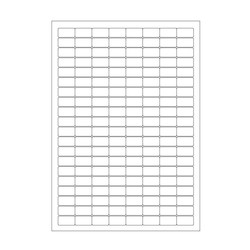 Cryo labels on sheets for laser printers 24 x 13mm (A4 format)