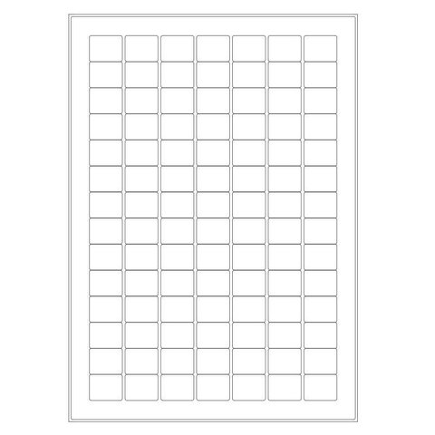 Cryo labels on sheets for laser printers 24mm x 19mm (A4 format)