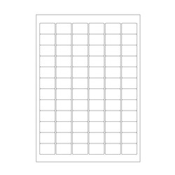 Cryo labels on sheets for laser printers 31 x 22mm (A4 format)
