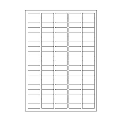 Cryo labels on sheets for laser printers 36mm x 14mm (A4 format)