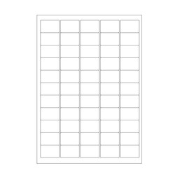 Cryo labels on sheets for laser printers 38.1 x 25.4mm (A4 format)