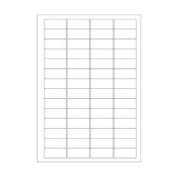 Cryo labels on sheets for laser printers 45 x 20mm (A4 format)