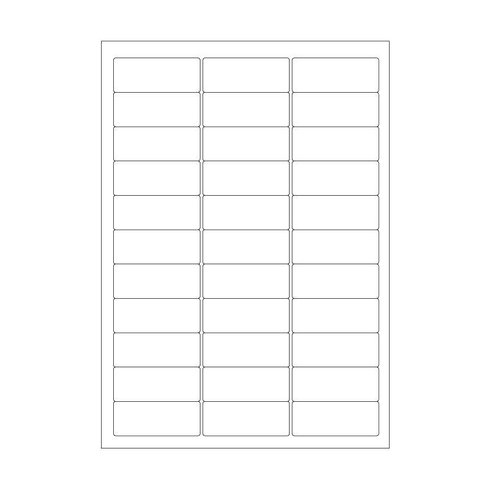 Cryo labels on sheets for laser printers 63.5mm x 25.4mm (A4 format)