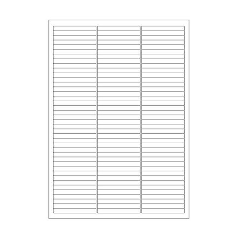Cryo labels on sheets for laser printers 64mm x 7mm (A4 format)