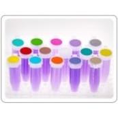Étiquettes couleur cryo rondes et rectangulaires