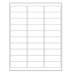 Autoclave Labels For Laser Printers - 66.7 x 25.4mm (Permanent)