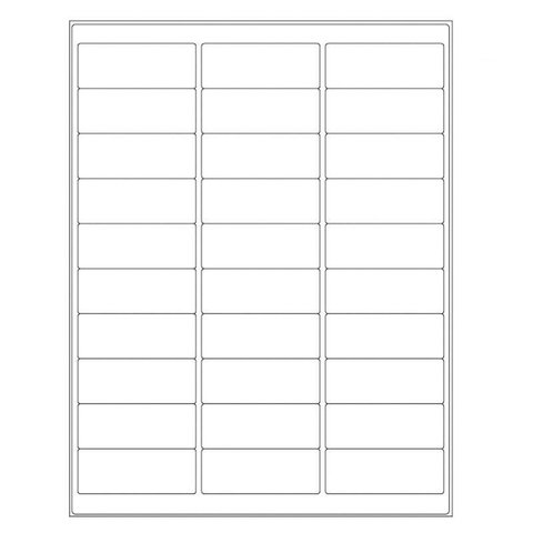 Autoclave Labels For Laser Printers - 66.7x25.4mm