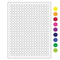 Cryo Labels For Laser Printers-Ø 11mm (US Letter Format)